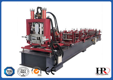 مصالح ساختمانی اتوماتیک CUZ Steel Purlin Profile Roll Forming Machine